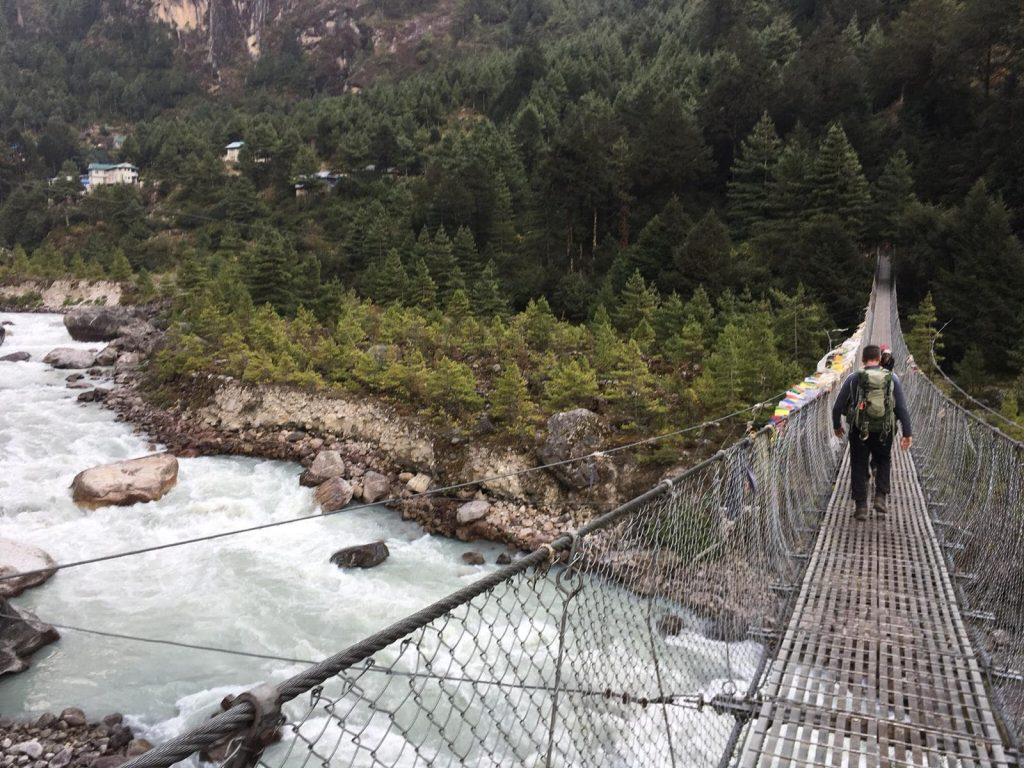 Bridge on the way to Everest base camp